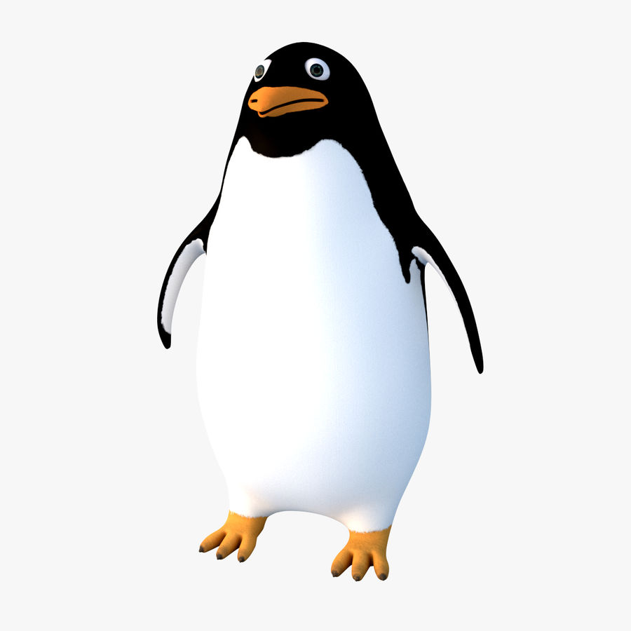 Cartoon Penguin - Rigged royalty-free 3d model - Preview no. 1
