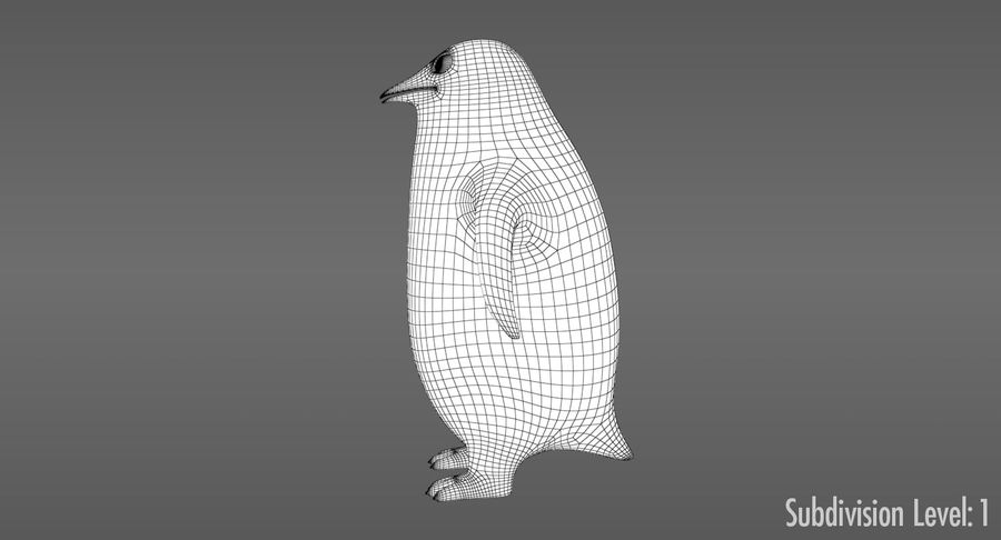 Cartoon Penguin - Rigged royalty-free 3d model - Preview no. 12