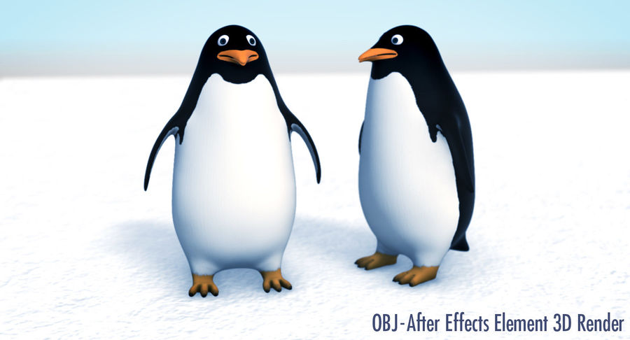Cartoon Penguin - Rigged royalty-free 3d model - Preview no. 21