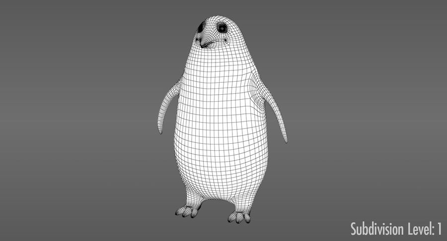 Cartoon Penguin - Rigged royalty-free 3d model - Preview no. 10