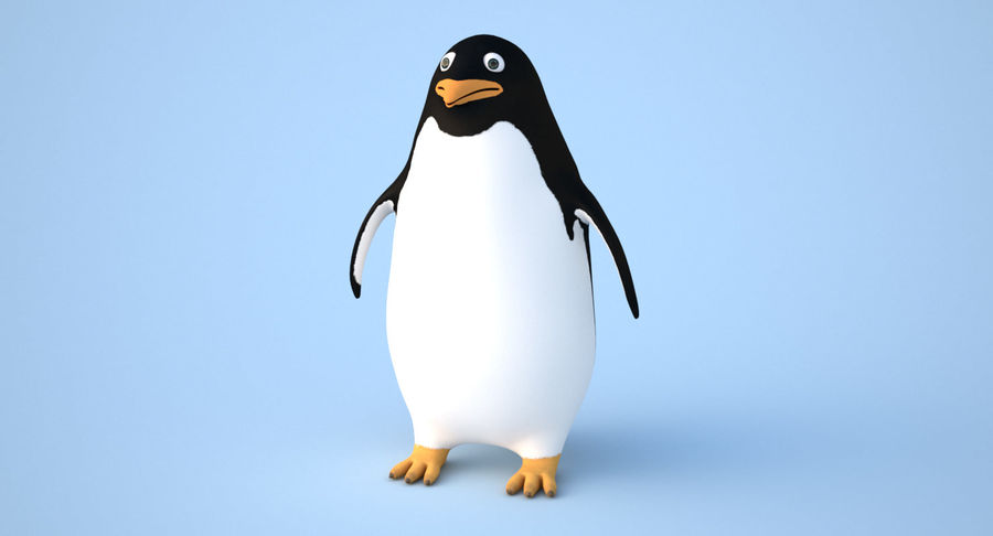 Cartoon Penguin - Rigged royalty-free 3d model - Preview no. 3