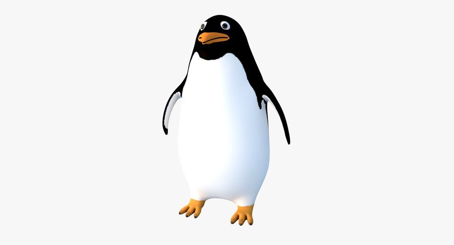 Cartoon Penguin - Rigged royalty-free 3d model - Preview no. 2