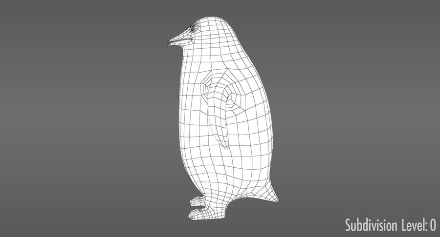 Cartoon Penguin - Rigged royalty-free 3d model - Preview no. 13