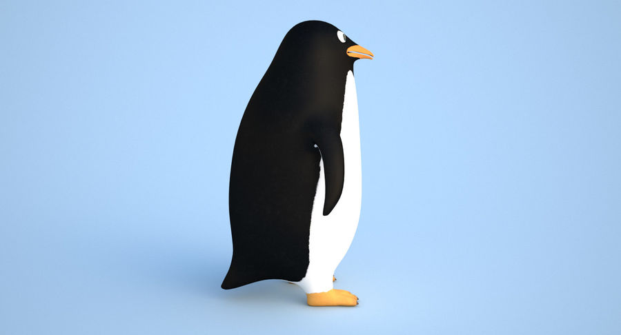 Cartoon Penguin - Rigged royalty-free 3d model - Preview no. 5