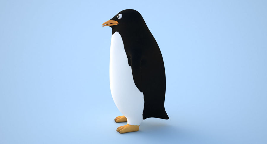 Cartoon Penguin - Rigged royalty-free 3d model - Preview no. 4