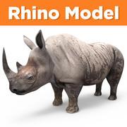 Rinoceronte realista sujo 3d model