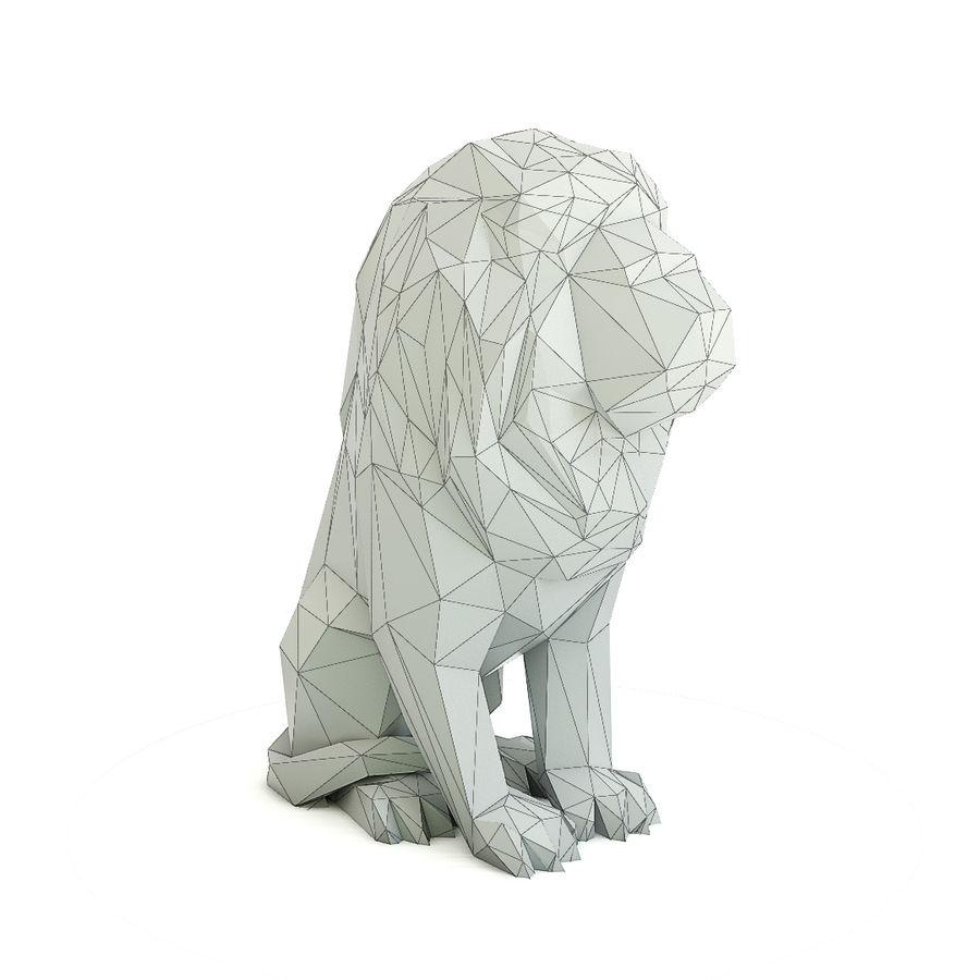 Lion Geometric / Low Poly royalty-free 3d model - Preview no. 5