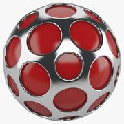Boule argentée décorative 3d model