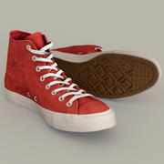 Converse All Star Multi-color Customizable PSD included 3d model