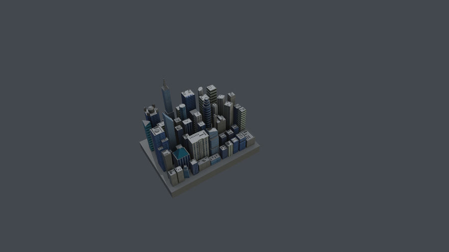 市 royalty-free 3d model - Preview no. 4