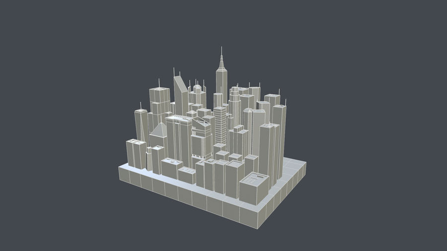 市 royalty-free 3d model - Preview no. 2