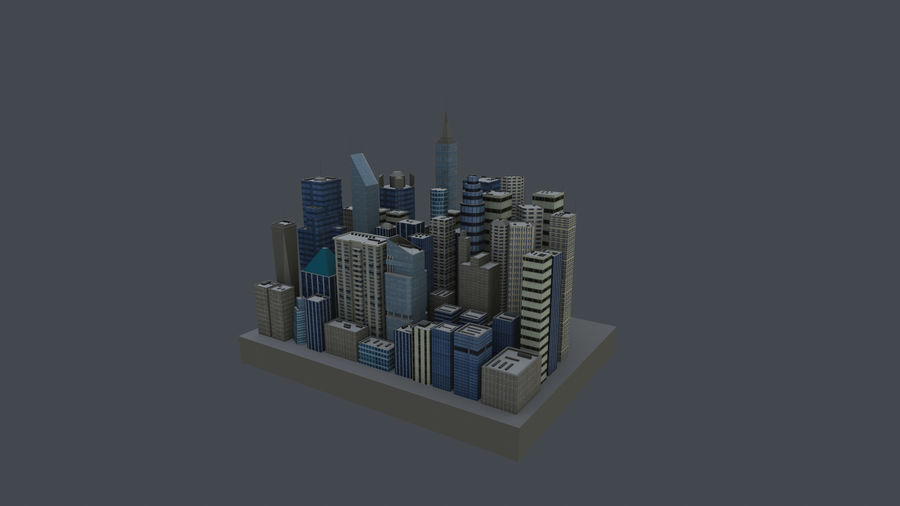 市 royalty-free 3d model - Preview no. 3