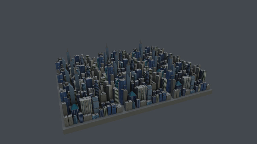 市 royalty-free 3d model - Preview no. 1