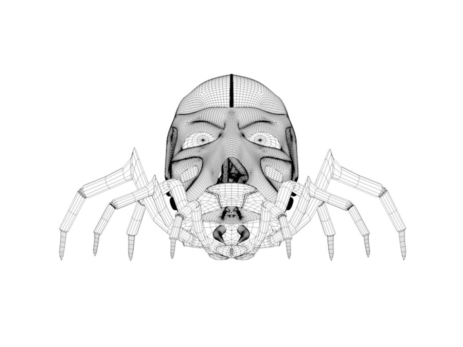 Robotic Spider royalty-free 3d model - Preview no. 4