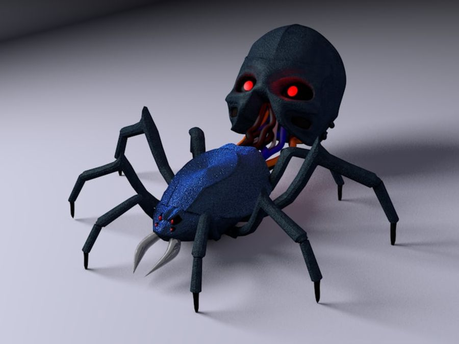 Aranha robótica royalty-free 3d model - Preview no. 1
