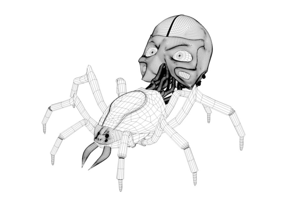 Aranha robótica royalty-free 3d model - Preview no. 2