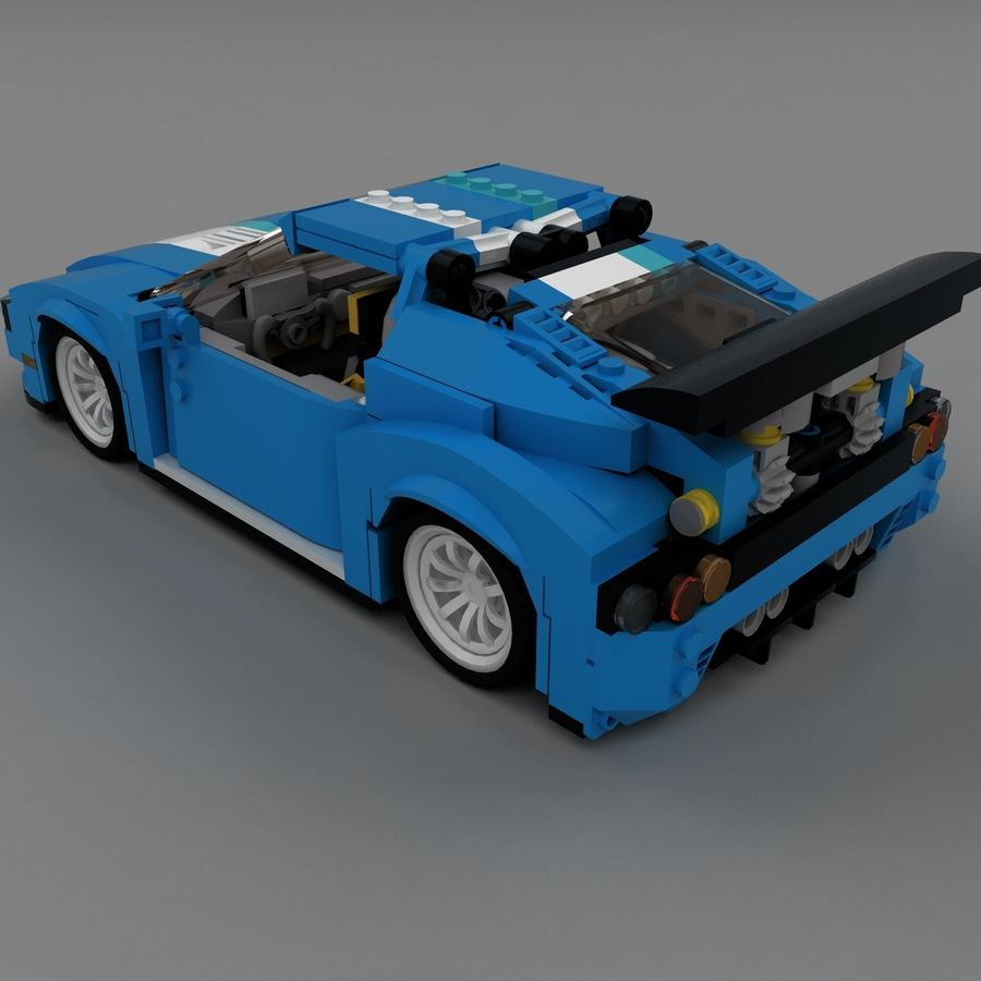 LEGO Turbo Track Racer Auto royalty-free 3d model - Preview no. 9