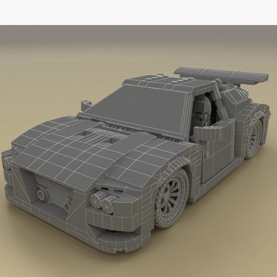 LEGO Turbo Track Racer Auto royalty-free 3d model - Preview no. 6