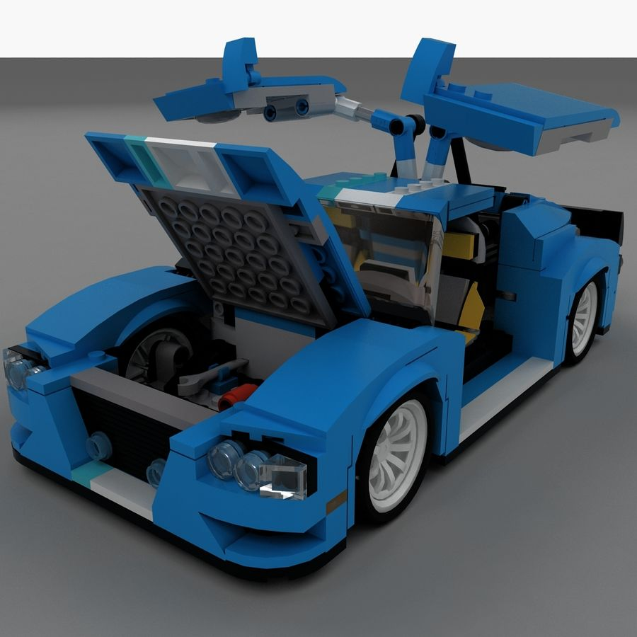 LEGO Turbo Track Racer Auto royalty-free 3d model - Preview no. 8