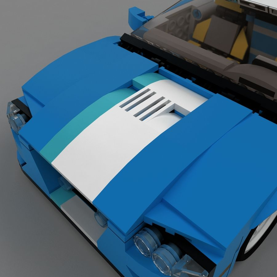 LEGO Turbo Track Racer Auto royalty-free 3d model - Preview no. 23