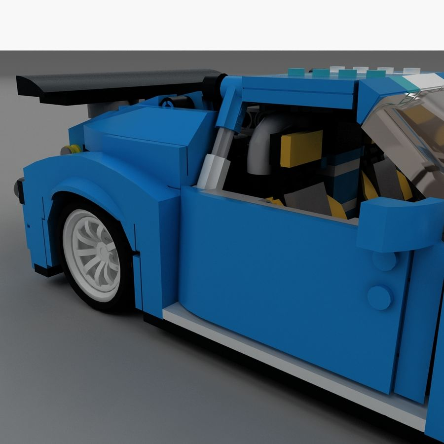 LEGO Turbo Track Racer Auto royalty-free 3d model - Preview no. 13