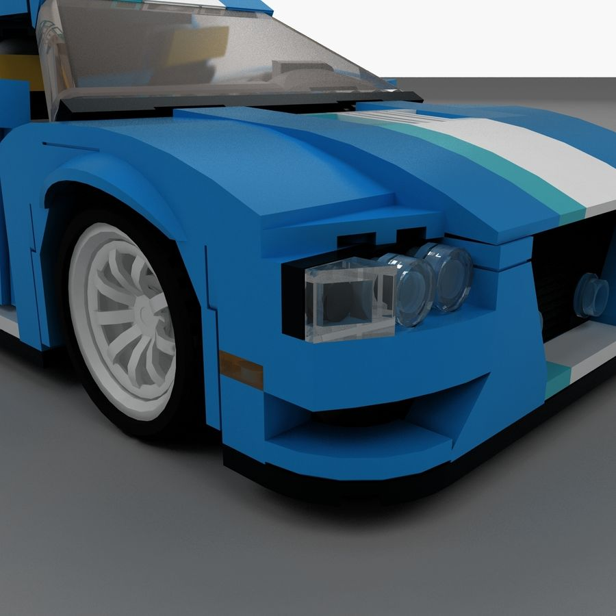 LEGO Turbo Track Racer Auto royalty-free 3d model - Preview no. 19