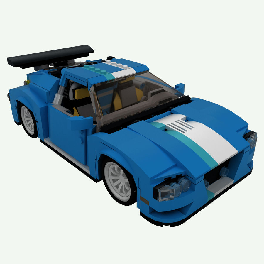 LEGO Turbo Track Racer Auto royalty-free 3d model - Preview no. 1