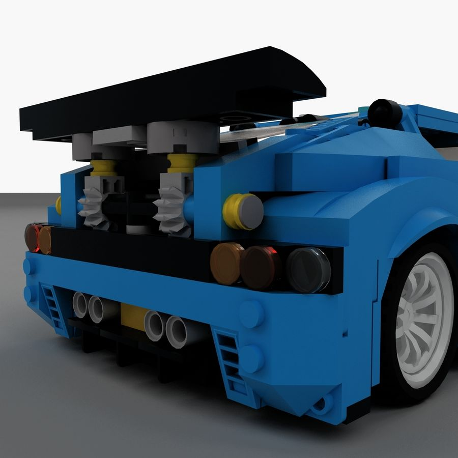 LEGO Turbo Track Racer Auto royalty-free 3d model - Preview no. 11