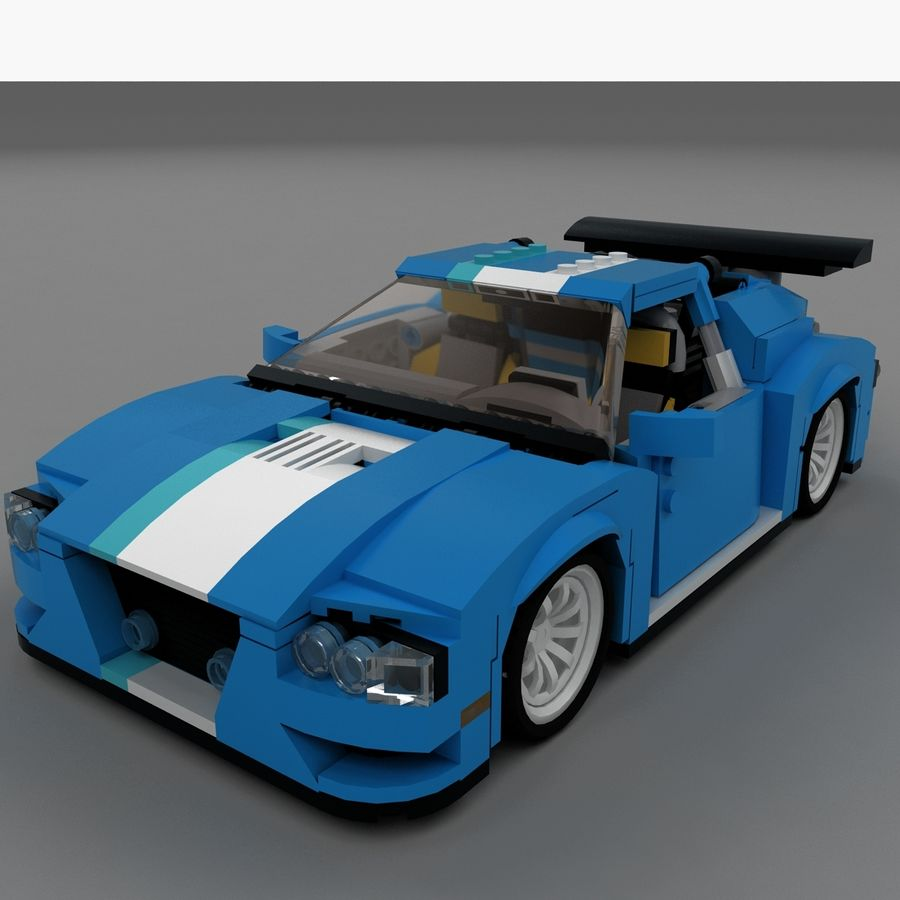 LEGO Turbo Track Racer Auto royalty-free 3d model - Preview no. 5