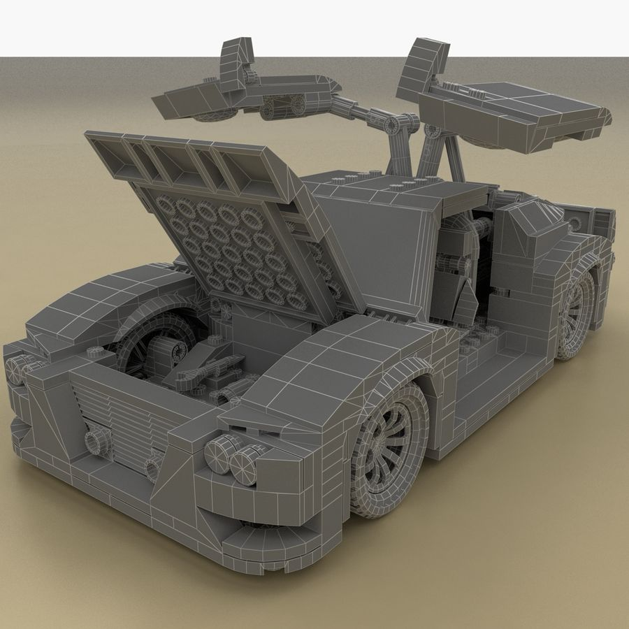 LEGO Turbo Track Racer Auto royalty-free 3d model - Preview no. 7