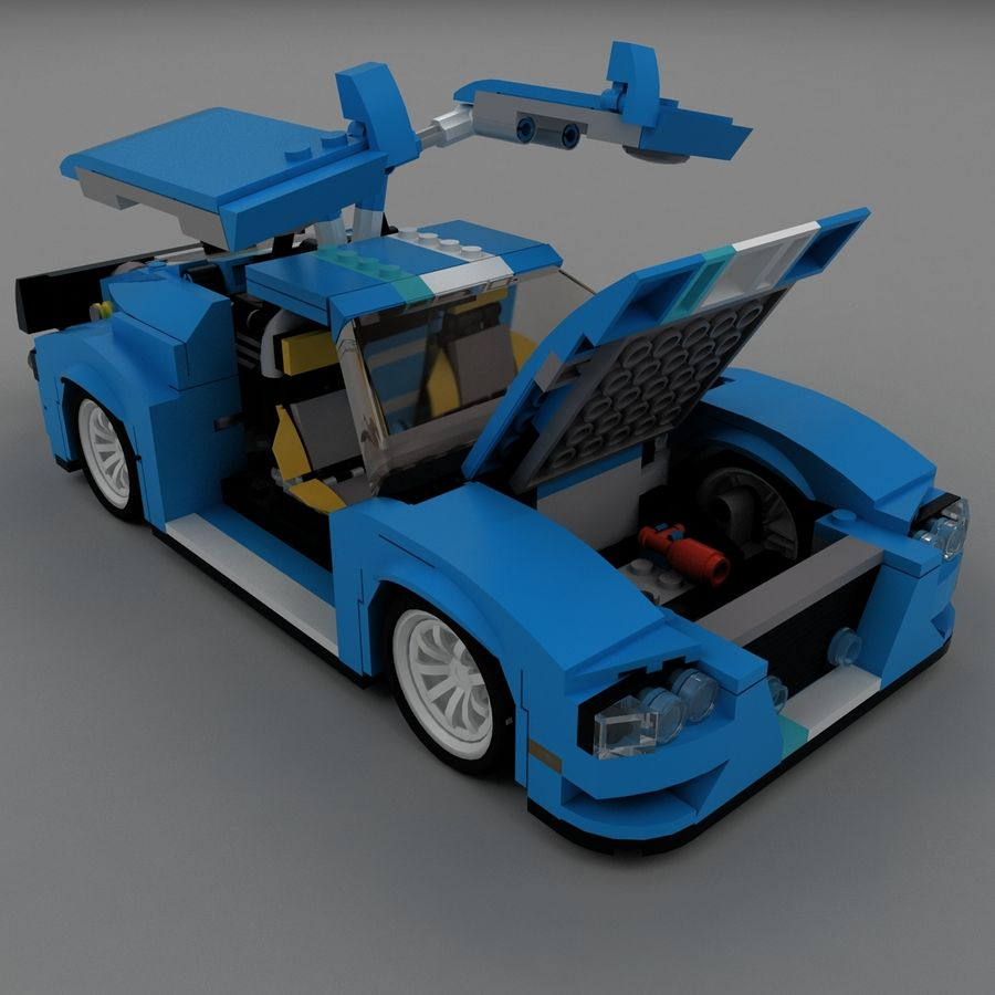 LEGO Turbo Track Racer Auto royalty-free 3d model - Preview no. 4
