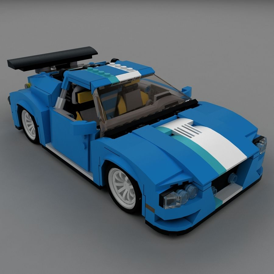 LEGO Turbo Track Racer Auto royalty-free 3d model - Preview no. 2