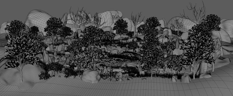 Berg natuur milieu. royalty-free 3d model - Preview no. 6