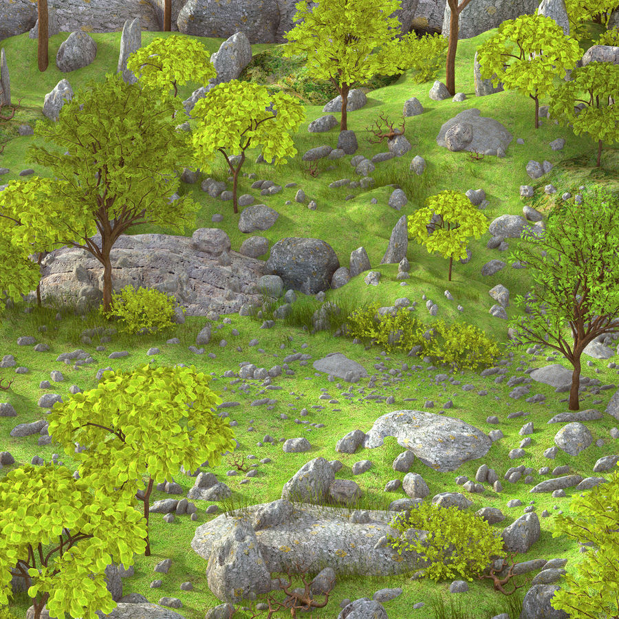 Montagne Nature Environnement. royalty-free 3d model - Preview no. 4