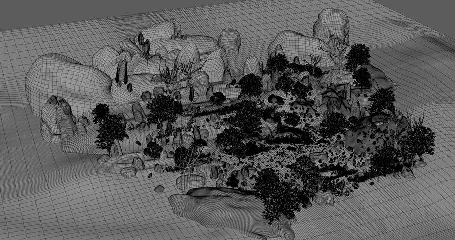 Berg natuur milieu. royalty-free 3d model - Preview no. 12