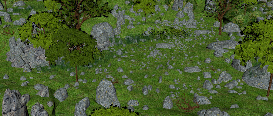 Montagne Nature Environnement. royalty-free 3d model - Preview no. 13