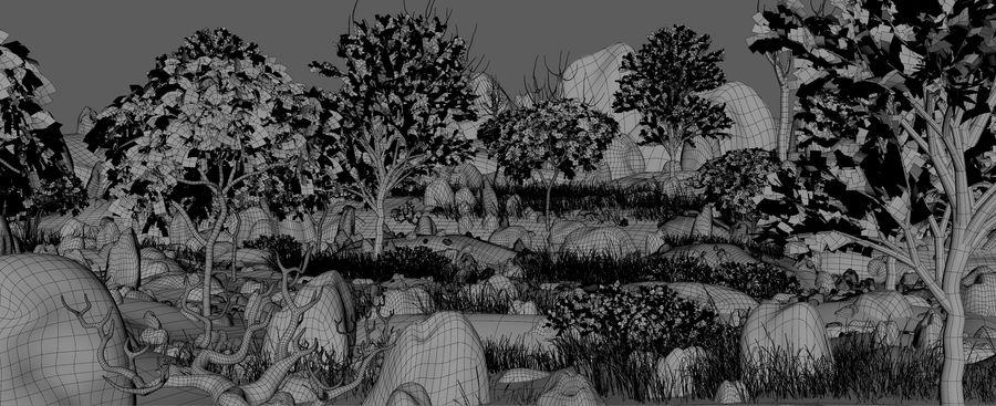Berg natuur milieu. royalty-free 3d model - Preview no. 8