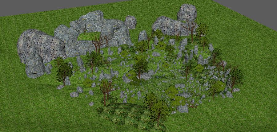 Berg natuur milieu. royalty-free 3d model - Preview no. 11