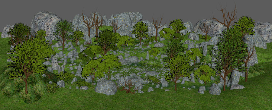 Montagne Nature Environnement. royalty-free 3d model - Preview no. 5