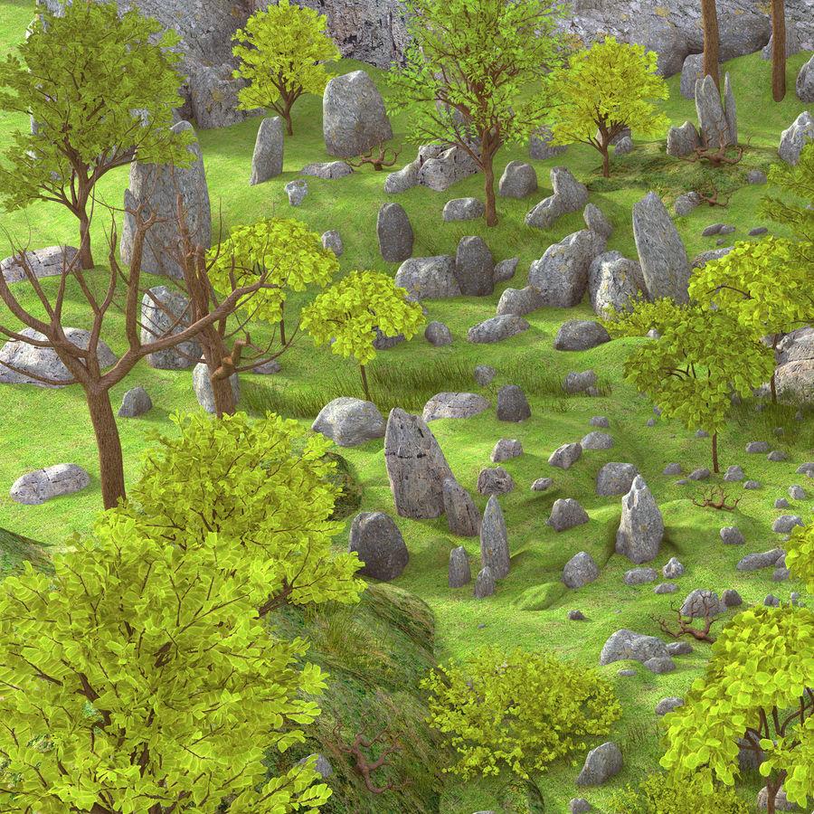 Berg natuur milieu. royalty-free 3d model - Preview no. 2