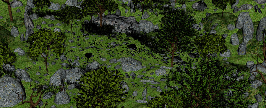 Montagne Nature Environnement. royalty-free 3d model - Preview no. 10