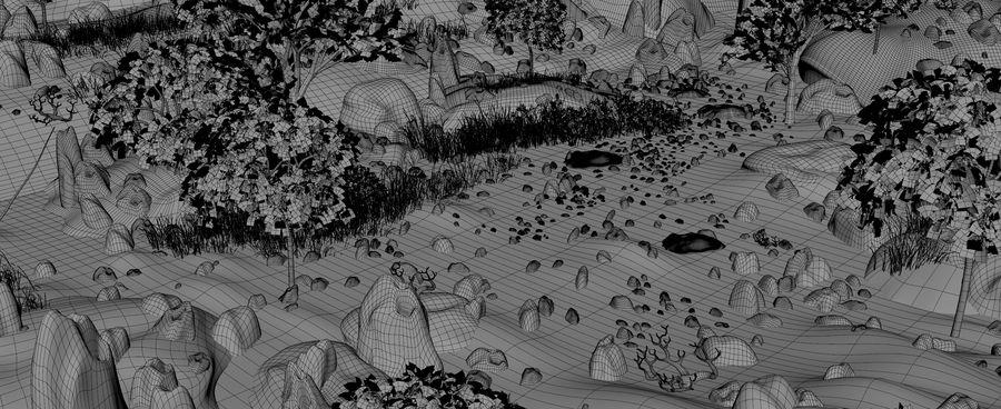 Berg natuur milieu. royalty-free 3d model - Preview no. 14