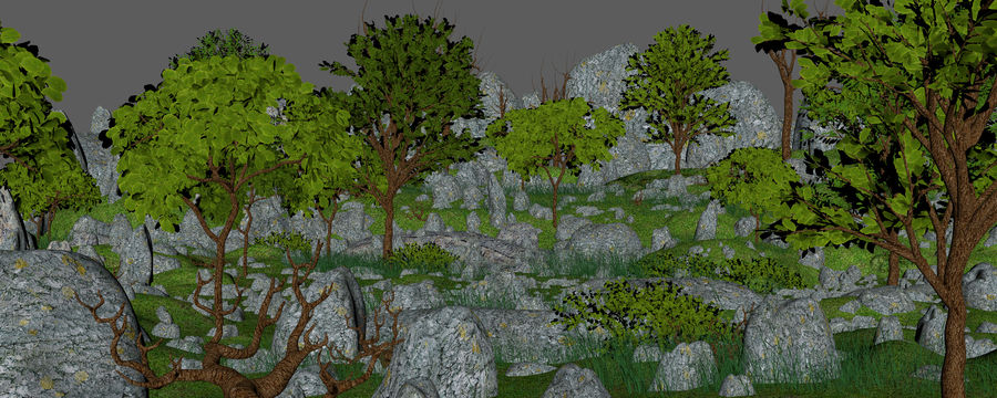Montagne Nature Environnement. royalty-free 3d model - Preview no. 7