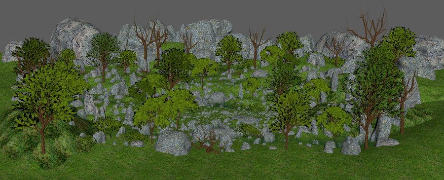 Berg natuur milieu. royalty-free 3d model - Preview no. 5
