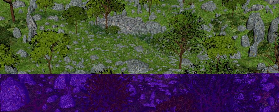 Berg natuur milieu. royalty-free 3d model - Preview no. 9