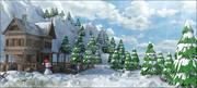 Winter-Landlandschaft 3d model