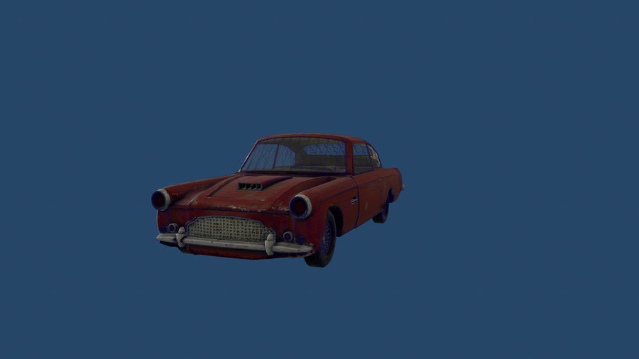 Abandoned Old Luxury Car royalty-free 3d model - Preview no. 13