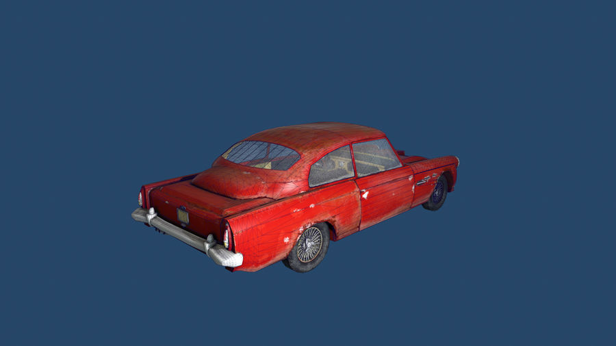 Abandoned Old Luxury Car royalty-free 3d model - Preview no. 12