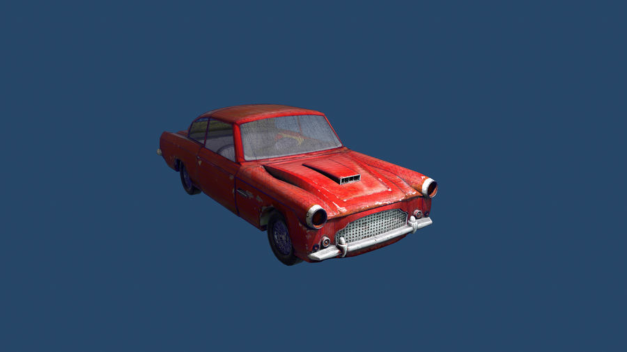 Abandoned Old Luxury Car royalty-free 3d model - Preview no. 9