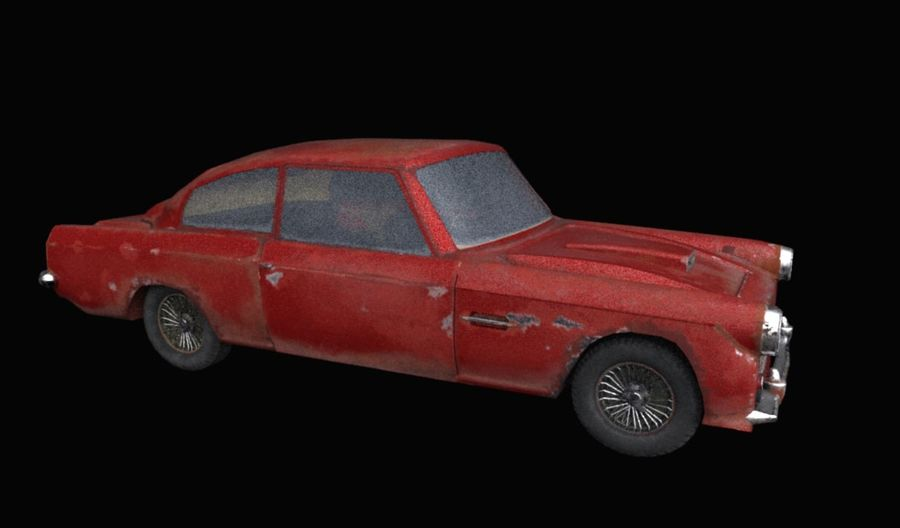 Abandoned Old Luxury Car royalty-free 3d model - Preview no. 2